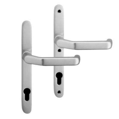 Profiltürbeschlag Uniline slim Drücker/Drücker silber F1
