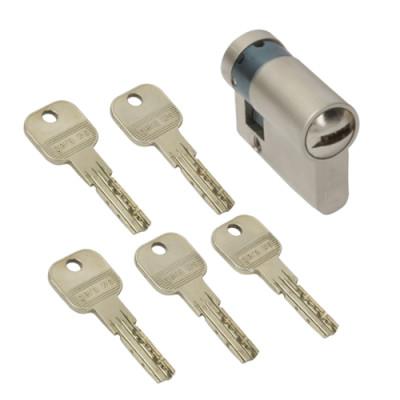 WS 50+10mm Halbzylinder 5 Schlüssel inkl.