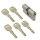 WS 35+45mm Doppelzylinder NGF 5 Schlüssel inkl.
