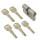 WS 40+80mm Doppelzylinder NGF 5 Schlüssel inkl.