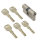 WS 60+60mm Doppelzylinder NGF 5 Schlüssel inkl.