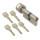 WS K50+50 mm Knaufzylinder 5 Schlüssel inkl.