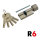 R6 Knaufzylinder K40+45 mm
