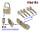 R6G Halbzylinder 60+10mm gleichschließend