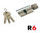 R6G Knaufzylinder 40+50K mm gleichschließend