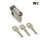WS 40+10mm Halbzylinder 3 Schlüssel, gleichschließend WSG14.12