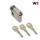 WS 50+10mm Halbzylinder 3 Schlüssel, gleichschließend WSG14.12