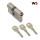 WS 50+50mm Doppelzylinder NGF 3 Schlüssel, gleichschließend WSG14.12
