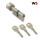 WS K40+70 mm Knaufzylinder 3 Schlüssel, gleichschließend WSG14.12