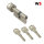 WS 50+60K mm Knaufzylinder 3 Schlüssel, gleichschließend WSG14.12